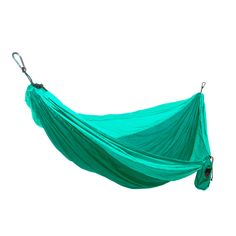 The ultimate hang-anywhere hammock. This Grand Trunk hammock is super easy to hang, Light weight and compressible to the size of a softball, durable parachute nylon that won't let you down whether hik