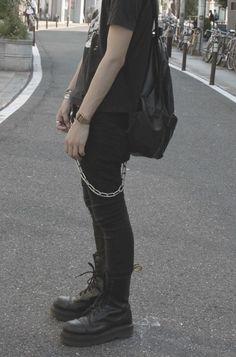 new ideas for fashion grunge punk casual Fashion Mode, Dark Fashion, Grunge Fashion, Mens Fashion, Boy Fashion, Lolita Fashion, Street Fashion, Edgy Outfits, Mode Outfits