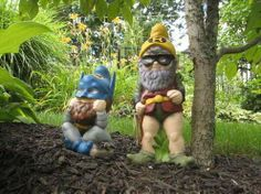 DIY Heroic Lawn Dwarves - Create Superhero Garden Gnomes to Protect Crops from Pesky Animals