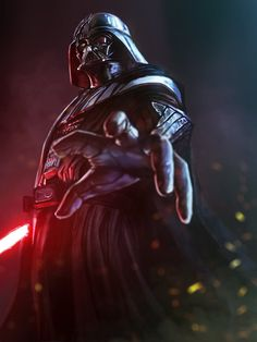"fandom-artworks: "" Darth Vader by [Permission obtain by artist before posting here. Please visit the original links and help fave or comment. Star Wars Sith, Clone Wars, Star Wars Fan Art, Images Star Wars, Star Wars Pictures, Film Sf, Anakin Vader, Anakin Skywalker, Funny Darth Vader"