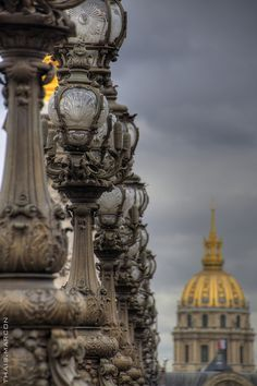 Alexander III bridge detail by Thais Marcon, via Flickr