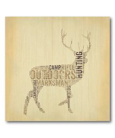 Love this Deer Wrapped Canvas on #zulily! #zulilyfinds