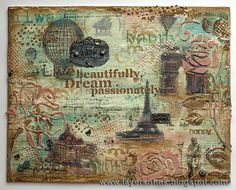Layers of ink - Live Beautifully Canvas Tutorial