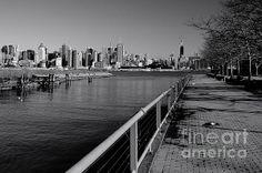 Photograph by Bob Stone - Ny From Nj Bw Fine Art Prints and Posters for Sale