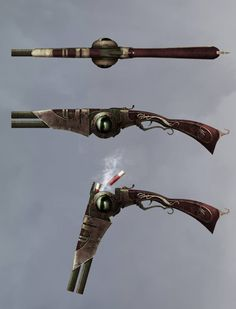 The Incredible Adventures of Van Helsing II Weapons Concept Art