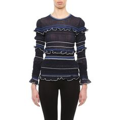 Peter Pilotto Sweaters ($360) ❤ liked on Polyvore featuring tops, sweaters, multi colored sweater, print sweater, peter pilotto tops, multi color sweater and multi color tops