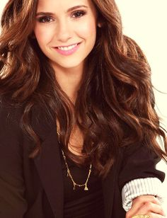 Nina Dobrev. this is the hair and hair color i wish i had :(
