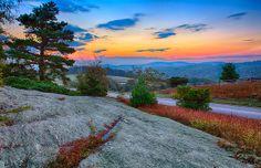 Daybreak along the Blue Ridge Parkway near the Doughton Park -- by Dan Carmichael