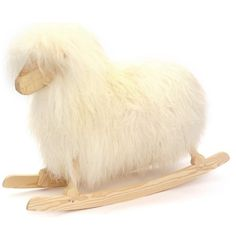 Rocking Sheep, White - contemporary - kids toys - Smallable ❤ liked on Polyvore featuring toys