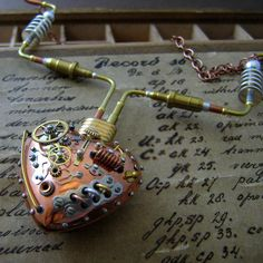 Steampunk Heart Pendant Jewellery