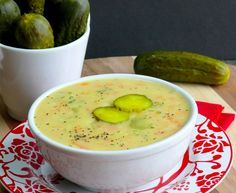 Dill Pickle Soup! mmm...  http://noblepig.com/2013/03/dill-pickle-soup/