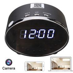 1080P Wireless IP Wifi IR Hidden Camera Clock Night Vision Security Network DVR
