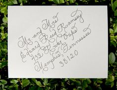 Custom Wedding Calligraphy for Envelope Addressing - Place Cards, Escort Cards, Invitations  Numbers Also Available. $1.25, via Etsy.