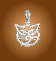 Sterling Silver Happy Kitty Pendant. https://www.wekittycats.com/collections/jewelry/products/sterling-silver-happy-kitty-pendant