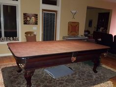 $250 Chestnut HARD COVER Pool Table Cover