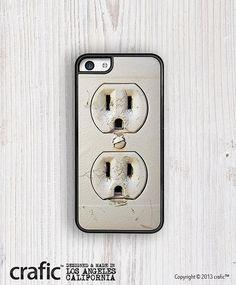 Electric Outlet iPhone 5C Case by CRAFIC on Etsy, $22.00