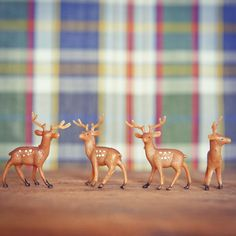 If only they could wear little plaid coats. #deer #crafts #adorable #gift #cute #love #instagood #happy #fun #tiny