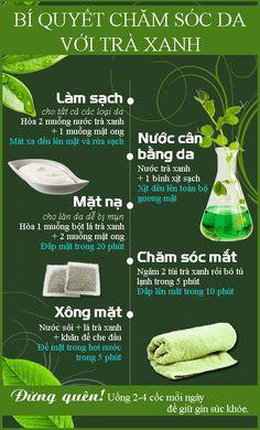 Trà xanh không những tốt cho sức khỏe mà còn là thảo dược chăm sóc da hiệu quả, có thể dùng rửa mặt, làm mặt nạ, nước cân bằng da, đắp mắt…  #tea #beauty #cantavil