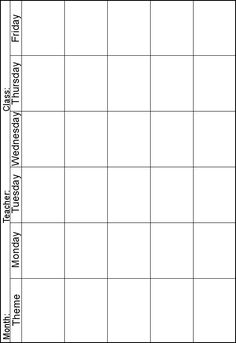 Weekly lesson planner. Instead of theme I can print one out for each subject/area... perfect for my homeschooling binder!