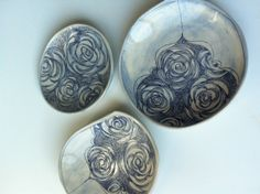 small plates from Linda Fahey - pottery - ceramics - etsy