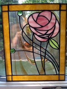 Sale-NO S/H Contemporary stained glass panel with a stunning flower pattern. Description from pinterest.com. I searched for this on bing.com/images