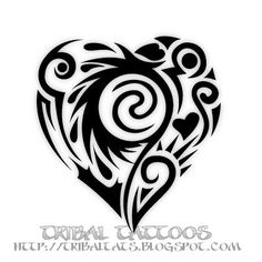 New 10 Unique Designs of Tribal Heart Tattoos Pictures   Just Pictures
