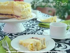 Wonderful German Pineapple Buttercream torte with easy Buttercream Frosting. Check it out at http://www.quick-german-recipes.com/easy-buttercream-frosting.html