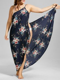 Cover up dresses, casual maxi dresses and cute modest dresses for teens for women Best one Piece Sexy Suspenders floral Print Dress this summer at Chellysun! Dresses For Teens, Plus Size Dresses, Plus Size Outfits, Plus Size Bikini Bottoms, Women's Plus Size Swimwear, Plus Size Strand, Bikini Mode, Model Street Style, Moda Plus Size