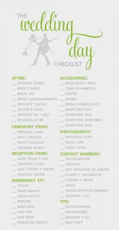 Wedding Planner Template Guide Checklist Things To Have Prepared For The Big Day