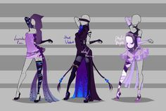 Outfit design - 224 - 226 - closed by LotusLumino on DeviantArt