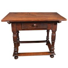 17th c. Italian Landowner's table in Walnut | From a unique collection of antique and modern side tables at https://www.1stdibs.com/furniture/tables/side-tables/