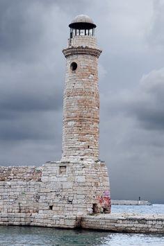 Lighthouse in Rethimnon, Crete, Greece