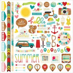 """Simple Stories Good Day Sunshine - Cardstock Stickers 12""""X12"""" - Fundamentals - Scrapping Nook"""