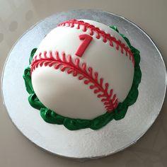 1st Birthday Baseball Smash Cake (Fondant)