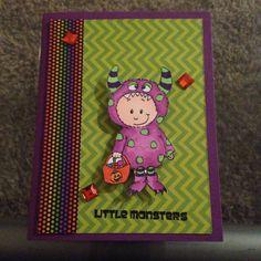 Gerda Steiner  designs halloween stamps card.