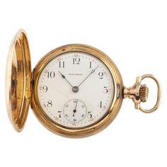 0f8c6a2d6 Waltham Full Hunter 14 Karat Gold Antique Pocket Watch Grade 620 15j 16s  1899