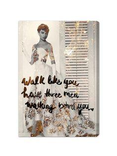 Walk Like You Have Fine Art Canvas by Oliver Gal on Gilt Home #AudreyHepburn #ICON #RoleModel
