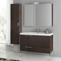 ACF by Nameeks ACF ANS28-W New Space 39-in. Single Bathroom Vanity Set - Wenge - ACF ANS28-W-