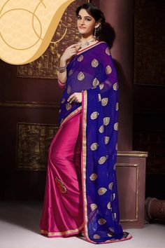 Buy Blue Georgette Party Wear Saree Online in low price at Variation. Huge collection of Party Wear Sarees for Party, Festivals, Engagements and Ceremonies. #party #partywearsarees #sarees #onlineshopping #latest #lowprice #variation. To see more - https://www.variationfashion.com/collections/party-wear-sarees