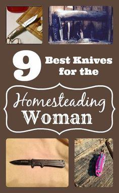 The 9 Best Knives for the Homesteading Woman Survival Knife, Survival Prepping, Emergency Preparedness, Survival Skills, Survival Stuff, Self Defense Women, Homestead Survival, Wilderness Survival, Hobby Farms