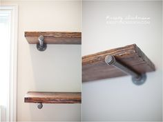 restoration hardware inspired office shelves - Kristy Dickerson Photography Blog