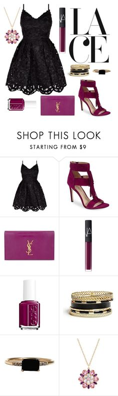 """""""Lace"""" by janaehallinan ❤ liked on Polyvore featuring Via Spiga, Yves Saint Laurent, NARS Cosmetics, Essie, GUESS, LUMO and lace"""