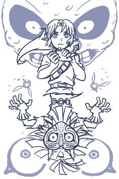 Link & Skull Kid | Majora's Mask