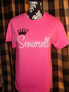 Hot Pink Senior TShirt Ready to ship  10 off Coupon by livelygal, $18.00
