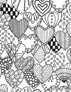 You are getting married! Let yourself be swept away into a world of serenity and happiness as you color in the beautiful floral, heart and other images in this unique book. The designs are of various Valentine Coloring Pages, Heart Coloring Pages, Printable Adult Coloring Pages, Colouring Pages, Coloring Sheets, Coloring Books, Pattern Coloring Pages, Doodle Coloring, Free Coloring