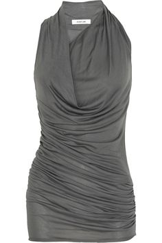 Ruched and draped jersey dress by Helmut Lang