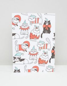 Ohh Deer Cat Wrapping Paper