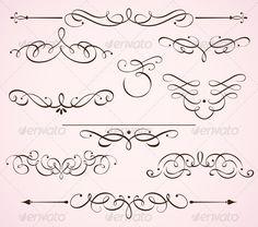 Decorative floral elements  - Flourishes / Swirls Decorative
