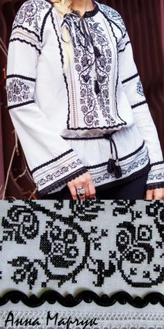 Folk Embroidery Ukraine, from Iryna Polish Embroidery, Folk Embroidery, Embroidery Fashion, Modern Embroidery, Folk Fashion, Folk Costume, Embroidery Techniques, Embroidered Blouse, Traditional Fashion