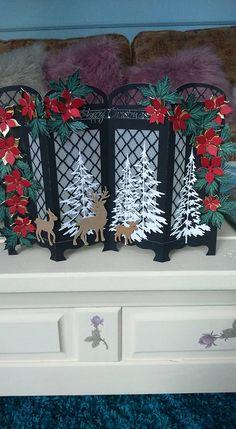 Susan Frank-Huitson More Chrismas Cards, Christmas Cards To Make, Xmas Cards, Holiday Cards, Christmas Ideas, Greeting Cards, Christmas Paper Crafts, Handmade Christmas, Screen Cards